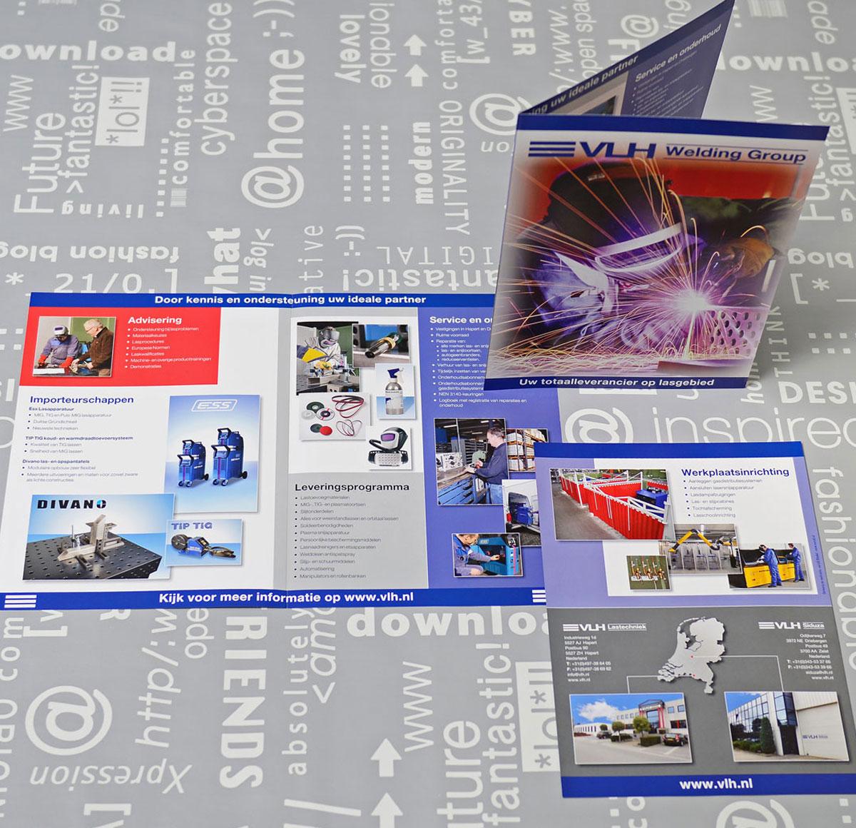 VLH, reclame, ontwerp, huisstijl, grafische vormgeving, bedrijfsfotografie, DTP, reclame-uiting, brochure, Portfolio