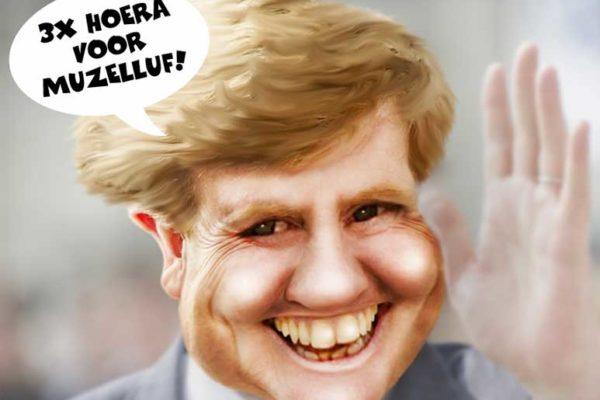 Koning, Willem, Alexander, 50, caricature, beeldbewerking, photoshop
