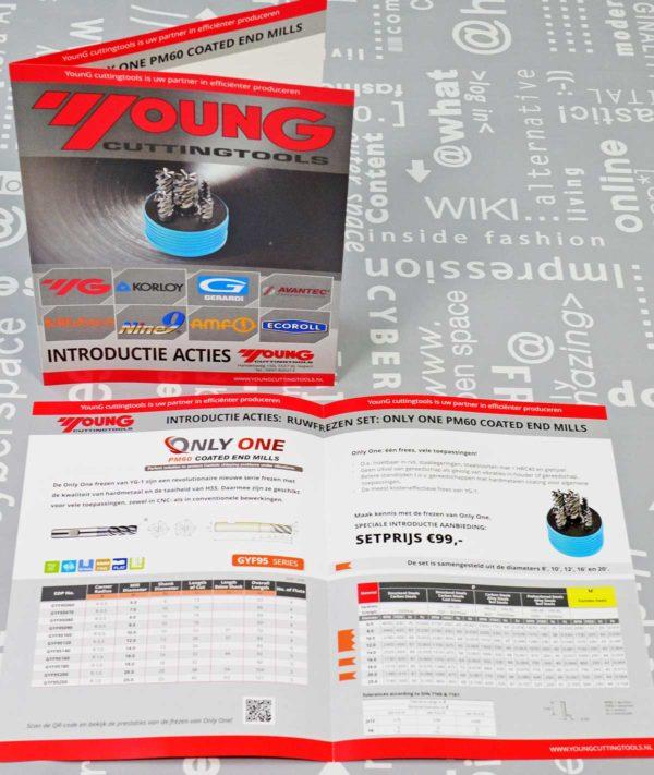 Young cuttingtools, actie brochure, ontwerp, logo, huisstijl, reclame, grafische vormgeving, DTP, reclame-uiting, portfolio