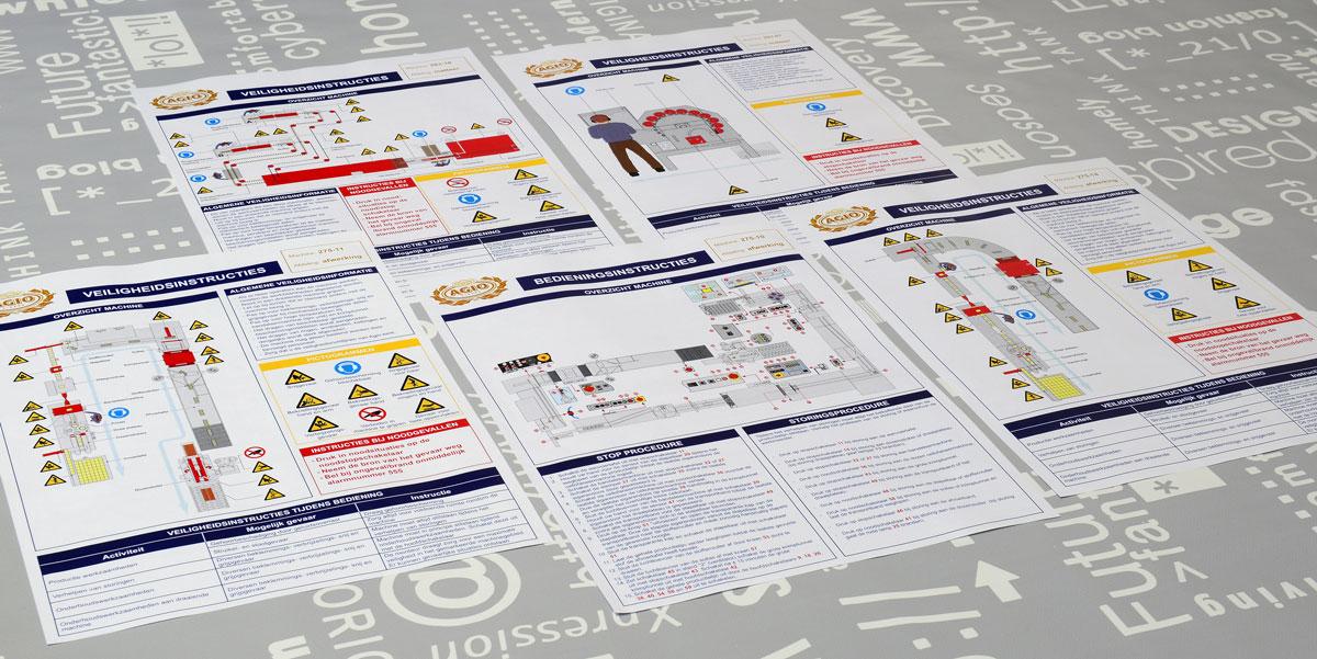 Agio, Technische illustraties, Technische handleidingen, Technische documentatie, instructiekaart, Portfolio