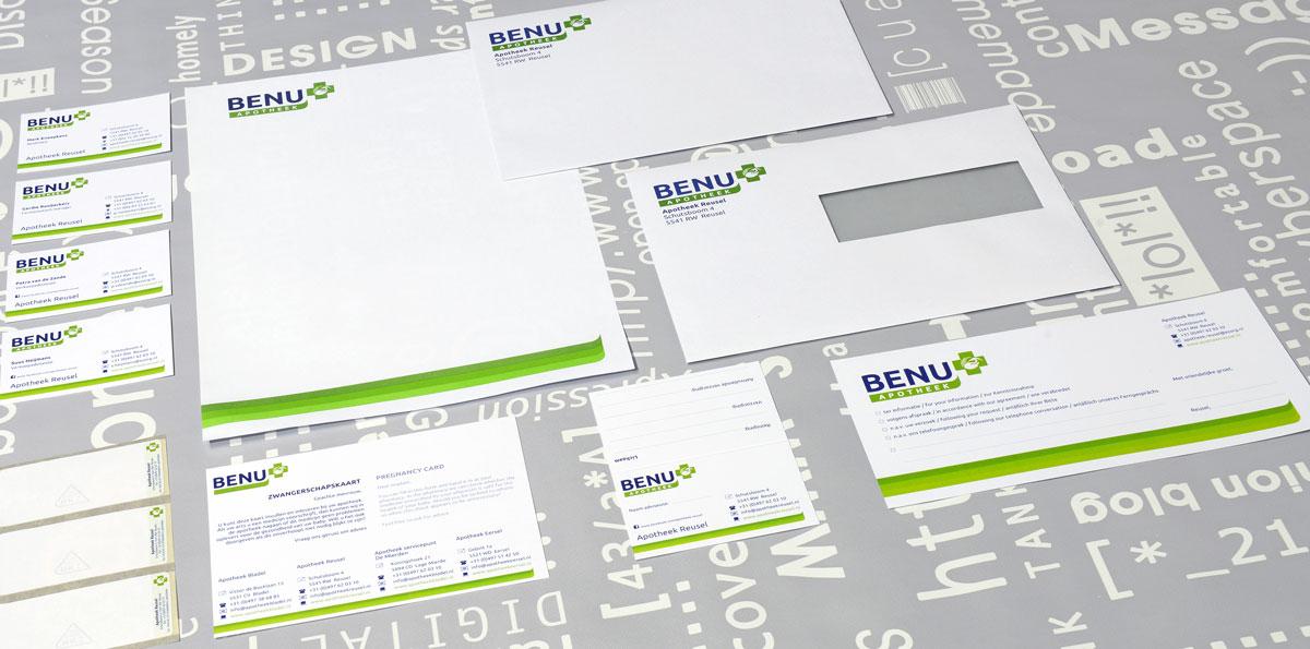 Apotheek Reusel, huisstijl, reclame, DTP, reclame-uiting, portfolio