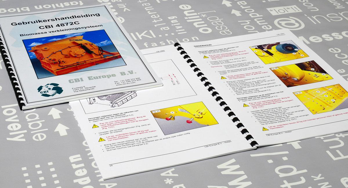 CBI, Technische illustraties, Technische handleidingen, Technische documentatie, Gebruikershandleiding, Portfolio