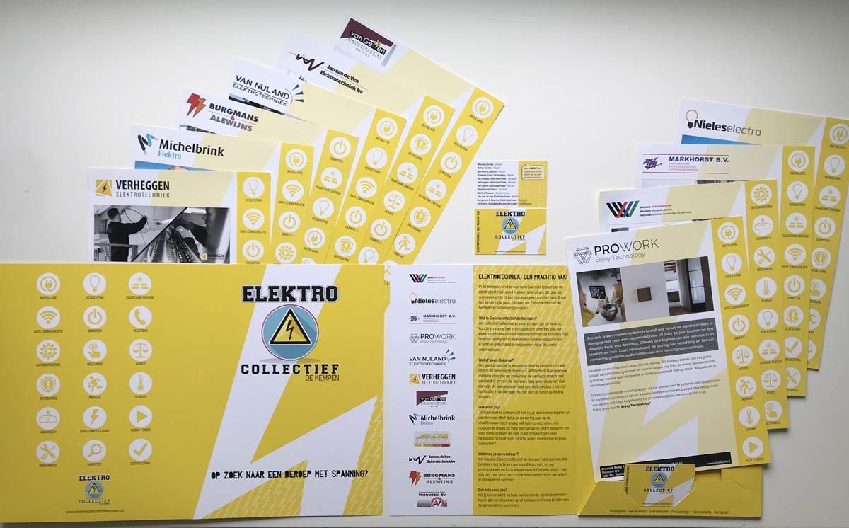 Elektrocollectief De Kempen, logo, huisstijl, Presentatiemappen, Flyers, Visitekaartjes, beurswand, spanzeil, banner, ontwerp, Reclame, KempenTech