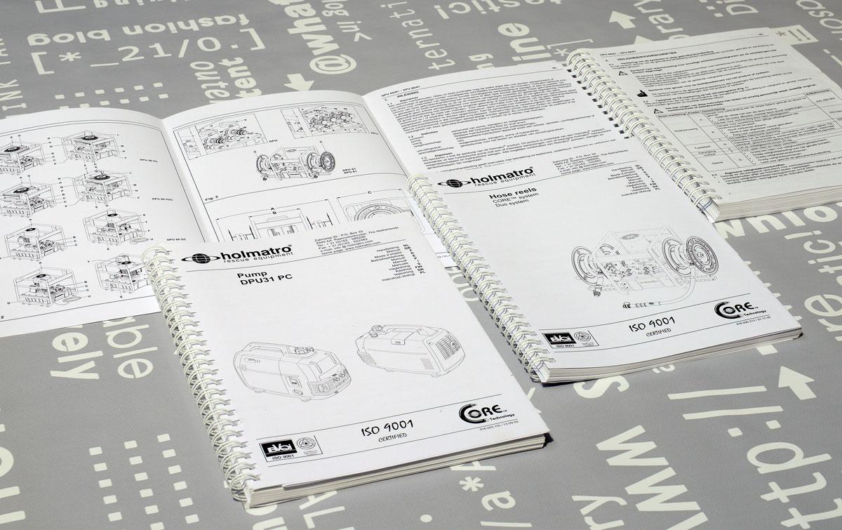 Holmatro, Technische illustraties, Technische handleidingen, Technische documentatie, Gebruikershandleiding