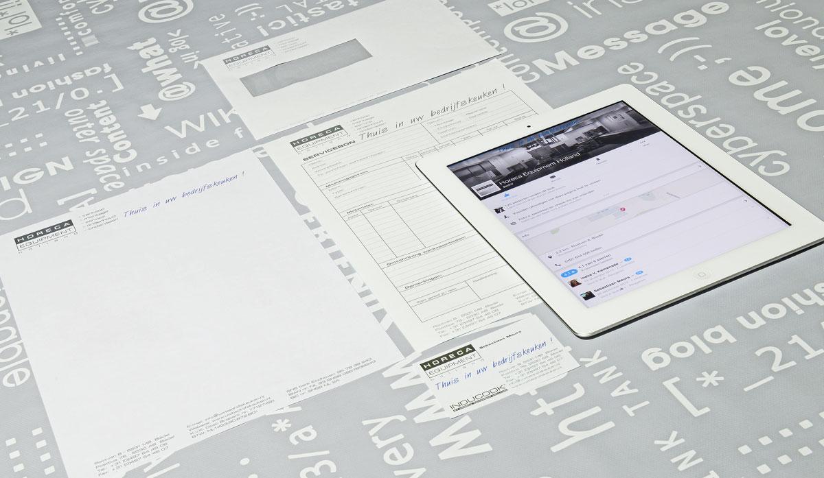 Horeca Equipment Holland, reclame, ontwerp, logo, huisstijl, grafische vormgeving, DTP, visitekaartjes, facebook, Portfolio