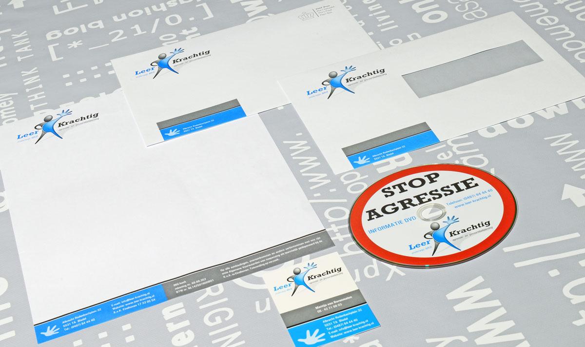 Leerkrachtig, reclame, ontwerp, logo, huisstijl, grafische vormgeving, DTP, visitekaartjes, Portfolio
