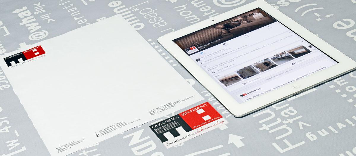 Meubel Brabant, reclame, ontwerp, logo, huisstijl, grafische vormgeving, DTP, visitekaartjes, facebook, Portfolio