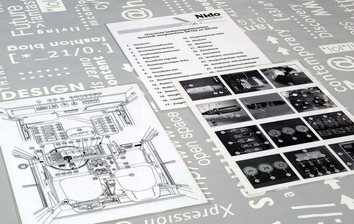 Nido, Technische illustraties, Technische handleidingen, Technische documentatie, instructiekaart