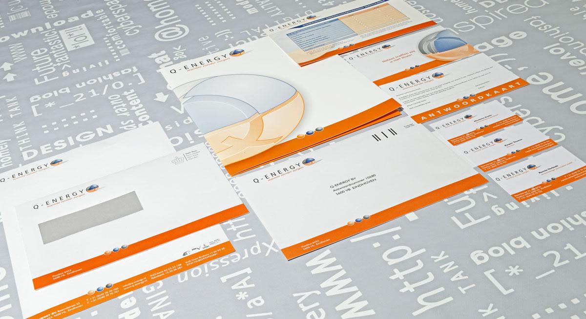Q-Energy,reclame, ontwerp, logo, huisstijl, grafische vormgeving, DTP, visitekaartjes, portfolio, Bladel