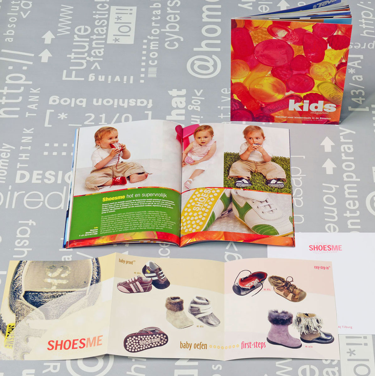 Shoesme, reclame, ontwerp, grafische vormgeving, productfotografie, bedrijfsfotografie, DTP, reclame-uiting, brochure, Portfolio