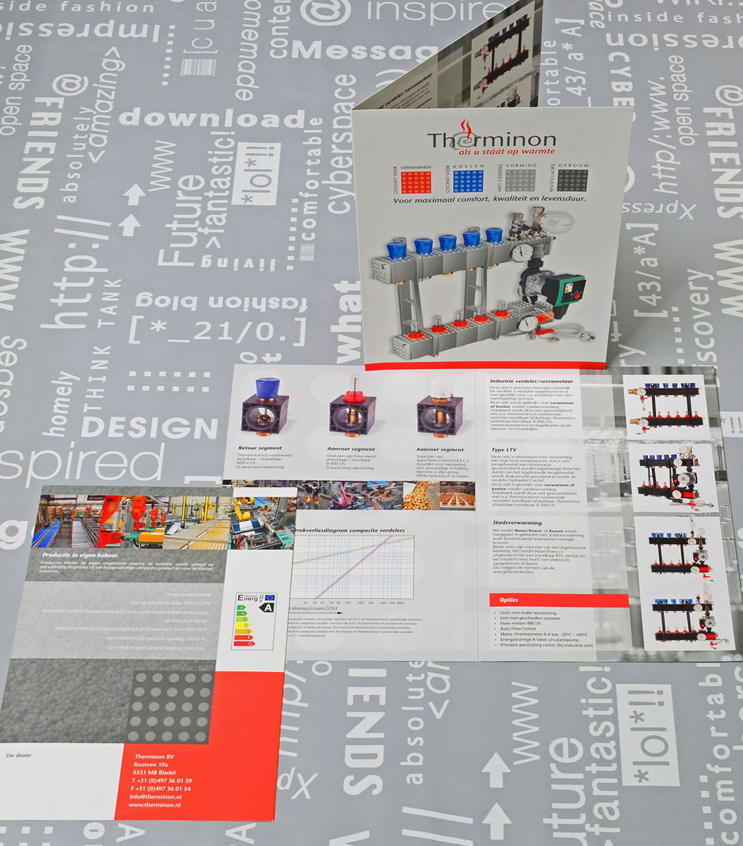 Therminon, reclame, ontwerp, logo, huisstijl, grafische vormgeving, bedrijfsfotografie, DTP, reclame-uiting, brochure, Portfolio