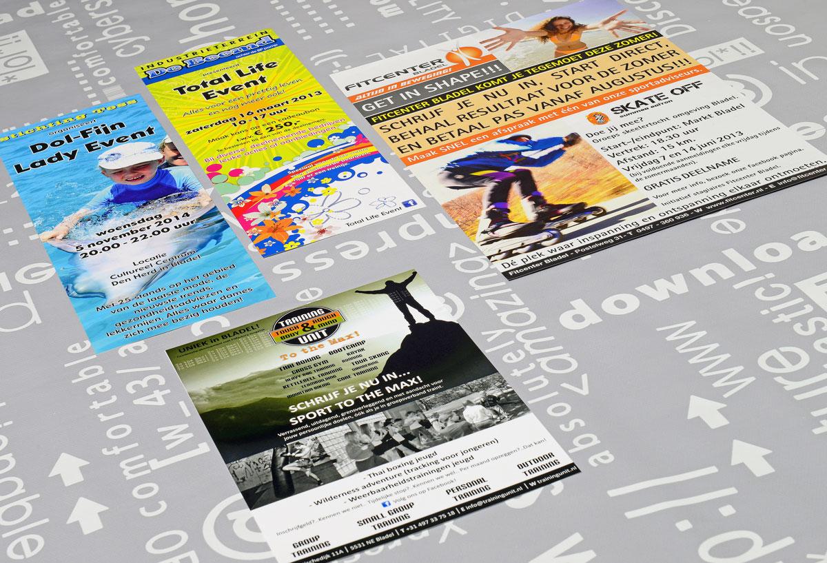 reclame, ontwerp, logo, huisstijl, grafische vormgeving, DTP, reclame-uiting, flyers, Portfolio