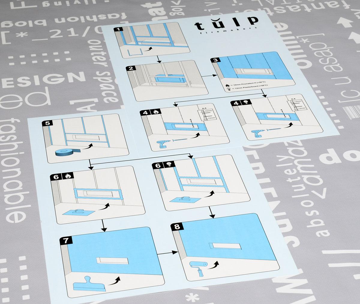 Tulp, Technische illustraties, Technische handleidingen, Technische documentatie, instructiekaart