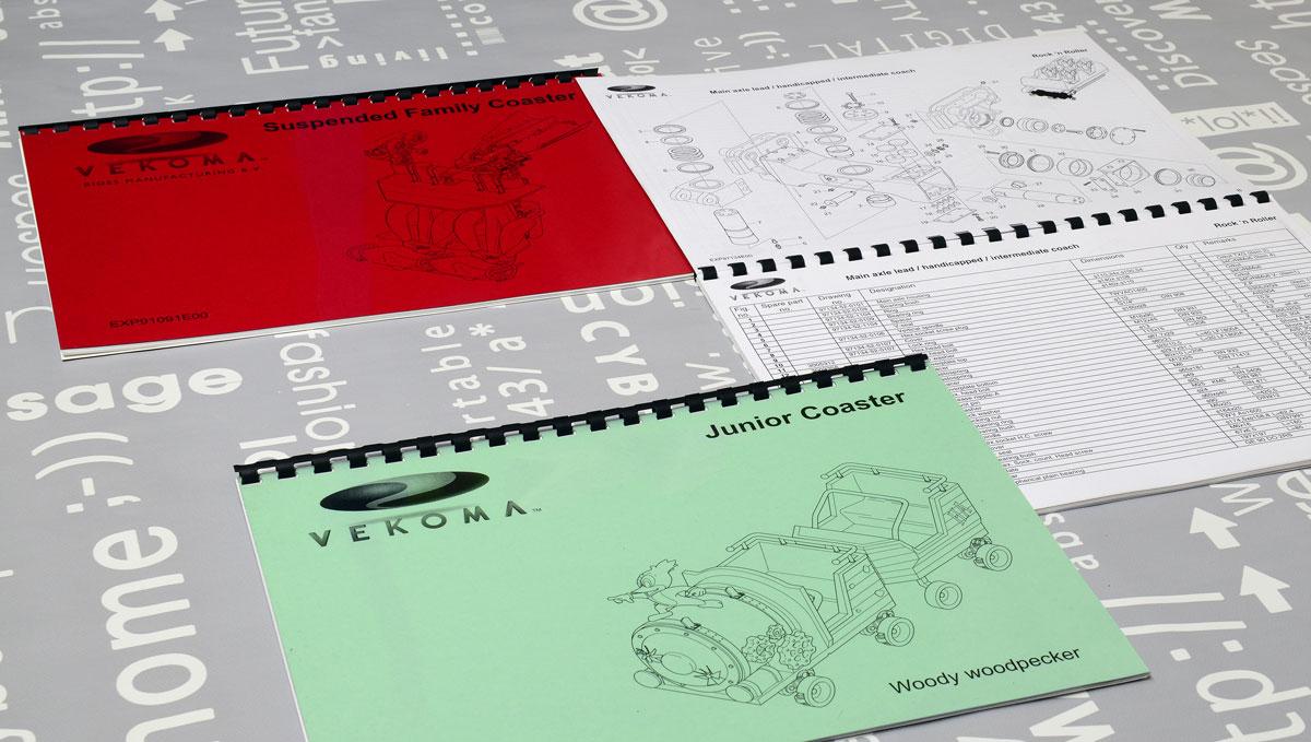 Vekoma, Technische illustraties, Technische handleidingen, Technische documentatie, Gebruikershandleiding