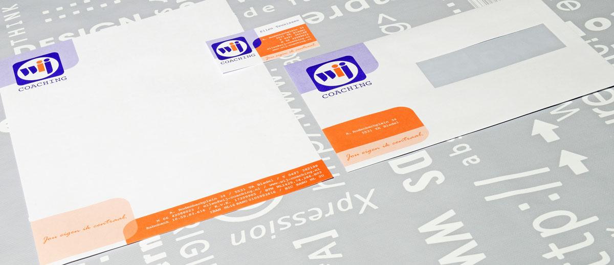 Wij Coaching, reclame, ontwerp, logo, huisstijl, grafische vormgeving, DTP, logo, huisstijl, visitekaartjes, Portfolio