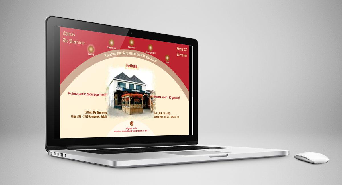 De Bierhoeve, webdesign, ontwerp, reclame, reclame-uiting, website.