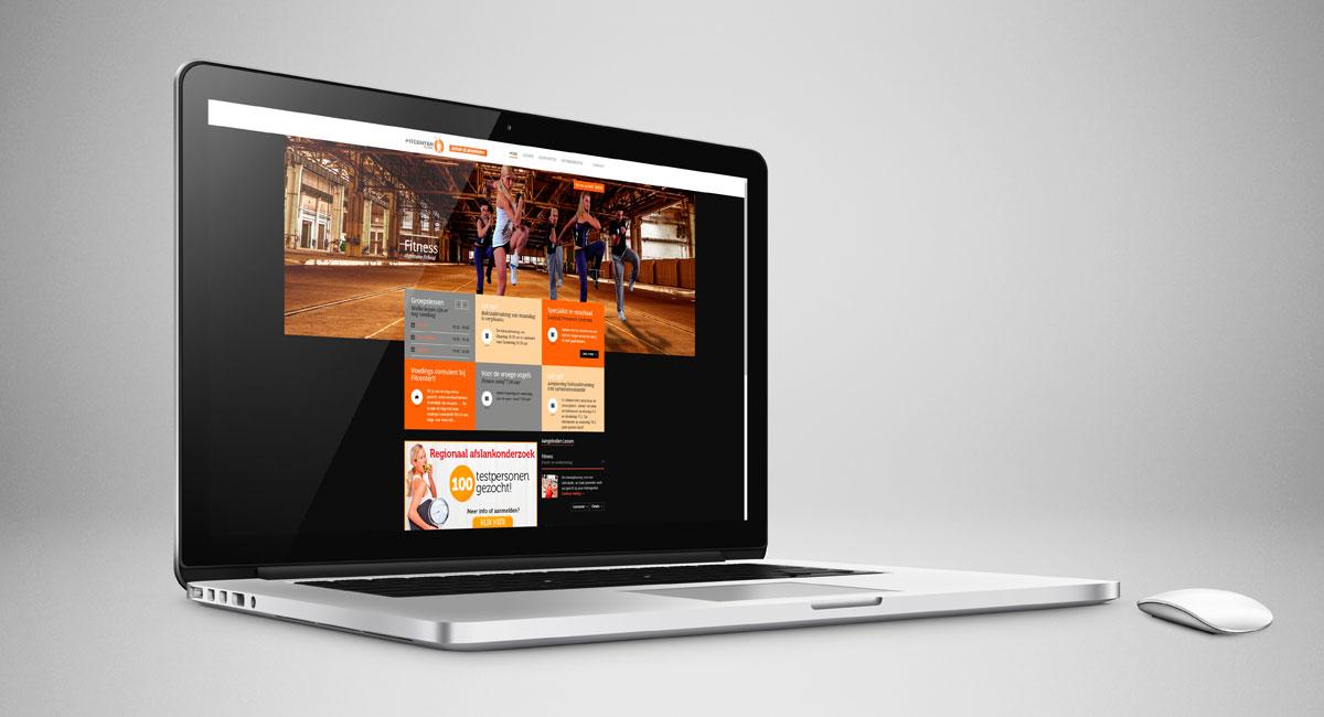 Fitcenter, webdesign, beeldbewerking, reclame, reclame-uiting, ontwerp, website, portfolio