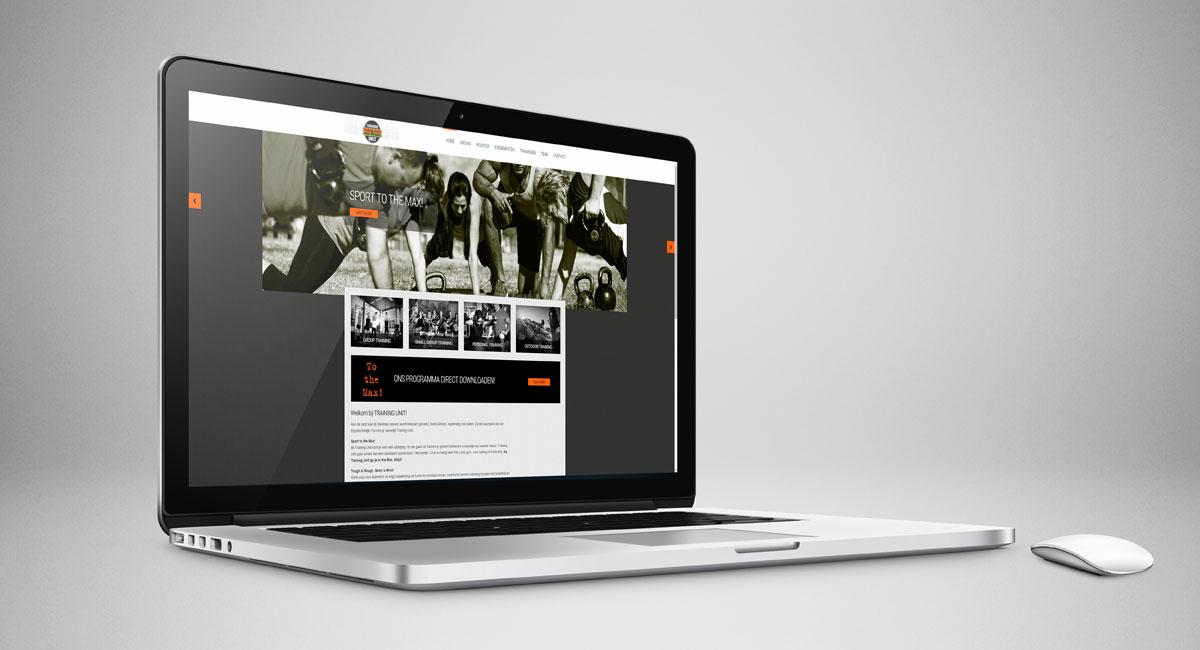 Training Unit, webdesign, ontwerp, logo, huisstijl, webtekst, reclame, reclame-uiting, website, portfolio