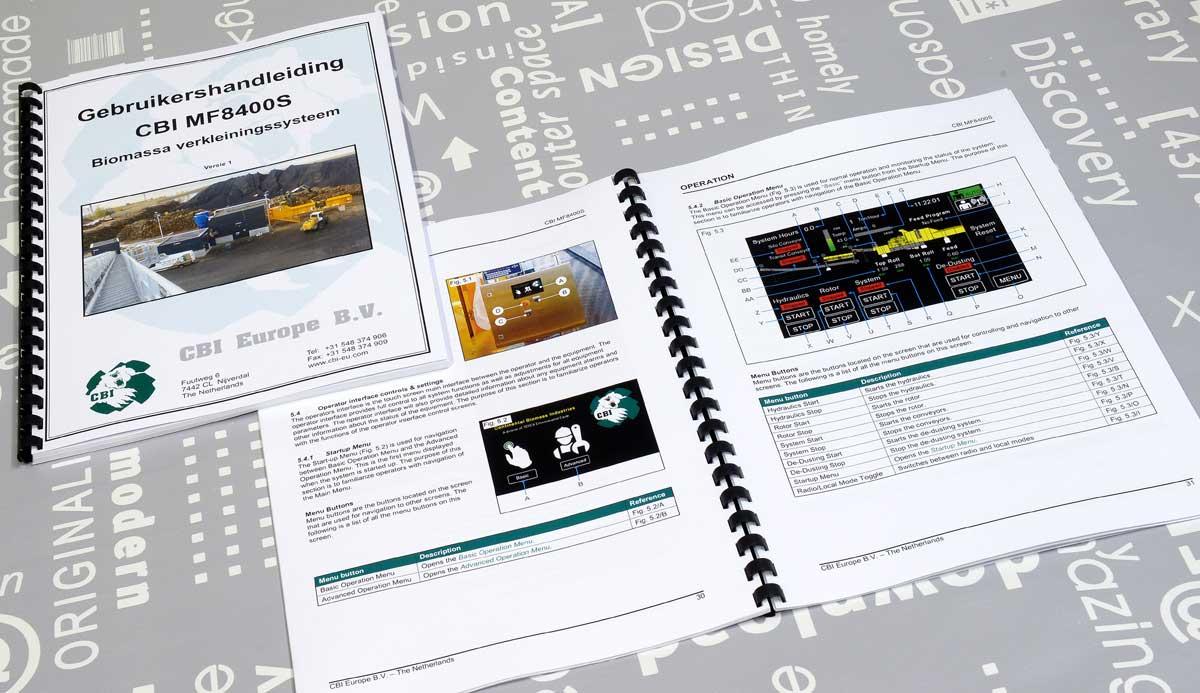 CBI, Fotografie, tekst, opmaak, Technische illustraties, Technische handleidingen, Technische documentatie, portfolio