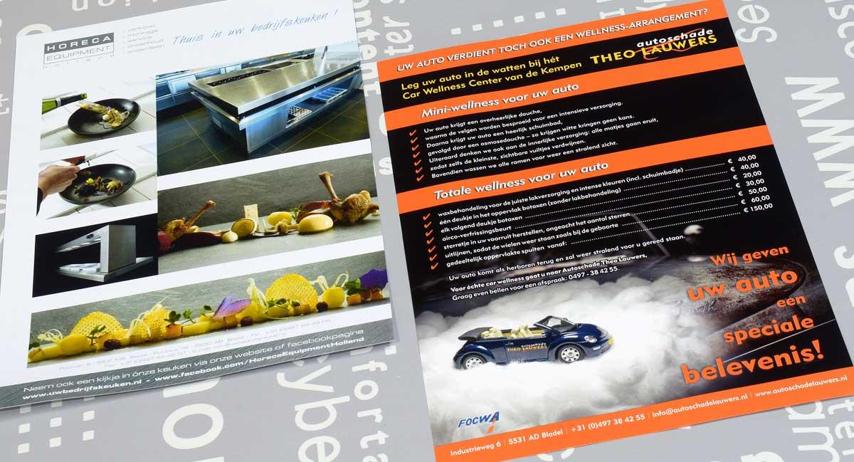 Horeca Equipment Holland, Autoschade Theo Lauwers, reclame, ontwerp, huisstijl, grafische vormgeving, fotografie, DTP, reclame-uiting, flyers, portfolio