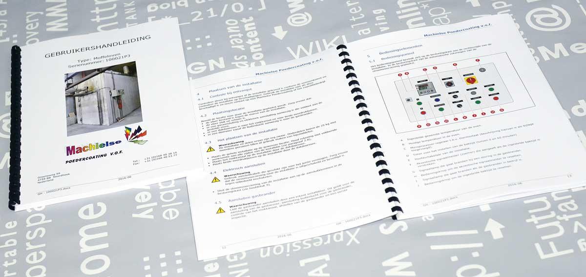 Machielse, Van Empel, tekst, illustraties, opmaak, Technische illustraties, Technische handleidingen, Technische documentatie, portfolio