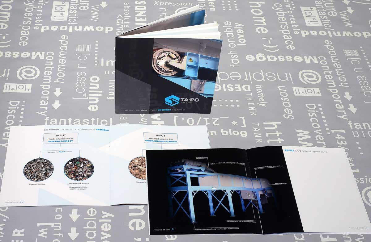TA-PO, ontwerp, huisstijl, beeldbewerking, tekst, opmaak, realisatie, reclame, grafische vormgeving, DTP, reclame-uiting, brochure. portfolio