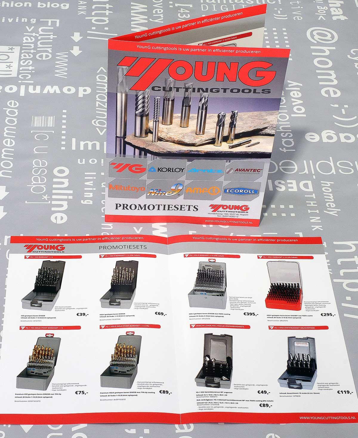 Young Cuttingtool, opmaak, realisatie, reclame, ontwerp, grafische vormgeving, DTP, reclame-uiting, brochure, portfolio