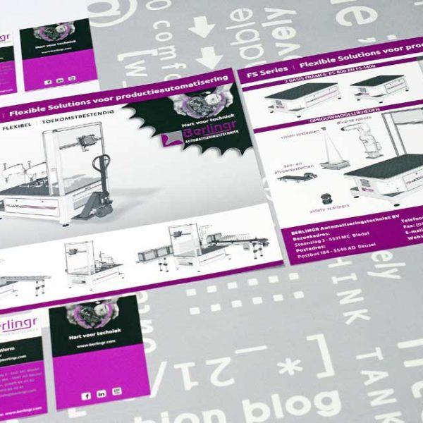 Berlingr Automatiseringstechniek, flyer, FS Series, logo, huisstijl, tekst, illustraties, visitekaartje, ontwerp, grafische vormgeving, DTP, reclame-uiting, portfolio