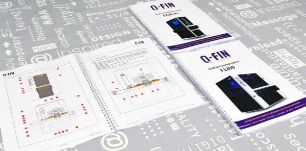 Q-Fin, Technische documentatie, tekst, illustraties, opmaak, technische handleidingen, portfolio