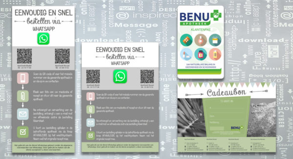 Apotheek Bladel-Reusel-Eersel, banner, stoepbord, klantenpas, cadeaubon, grafisch-ontwerp, reclame-uiting, portfolio, Bladel