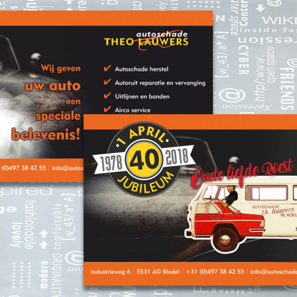 Autoschade Theo Lauwers, spanzeil, banner, identiteit, branding, logo, huisstijl, ontwerp, bedrijfsfotografie, promotiefotografie, reclame-uiting, portfolio, Bladel