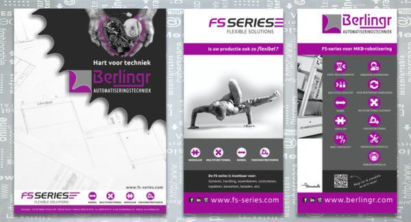 Berlingr-FS series, identiteit, branding, logo, huisstijl, ontwerp, schrijfblok, banner, brochure, reclame uiting, portfolio, Bladel