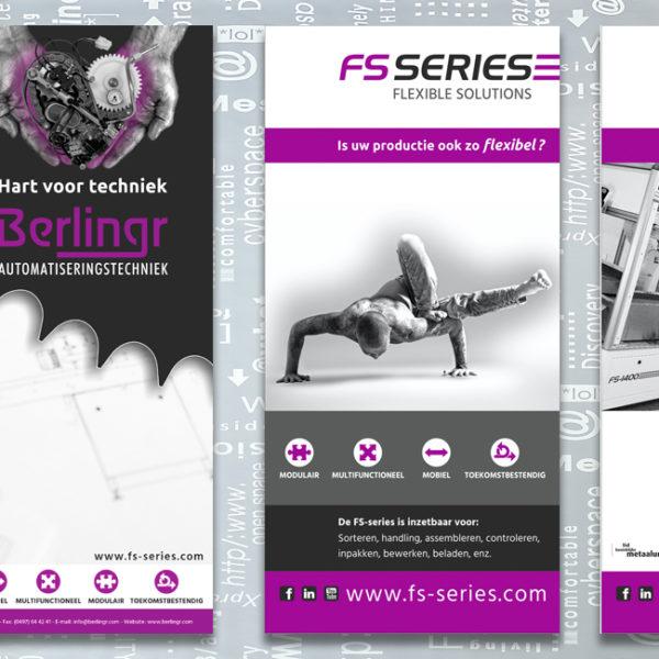 Berlingr-FS series, identiteit, branding, logo, huisstijl, ontwerp, schrijfblok, banner, brochure, reclame uiting, portfolio