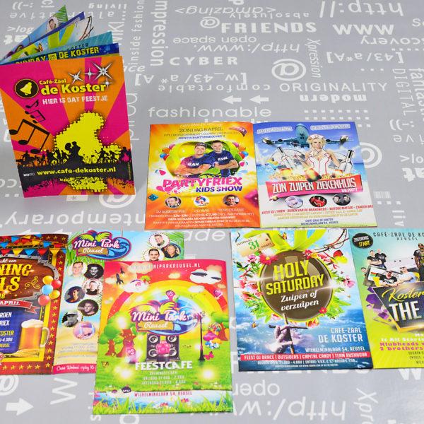 Café-Zaal-de-Koster-en-Mini-Park-folders-posters-flyers-entree-kaarten-advertenties-identiteit-branding-huisstijl-ontwerp-reclame-uiting-portfolio