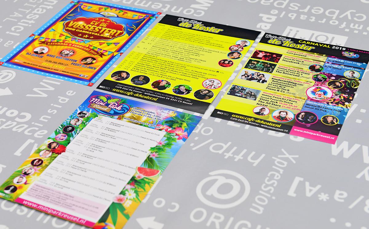Café-Zaal-de-Koster-en-Mini-Park-folders-posters-flyers-entree-kaarten-advertenties-identiteit-branding-huisstijl-ontwerp-reclame-uiting-portfolio-Bladel-3