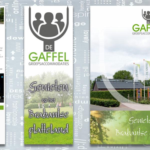 De Gaffel Groepsaccommodaties, nieuwsbrief, banner, vlag, brochure, identiteit, branding, logo, huisstijl, ontwerp, reclame-uiting, portfolio