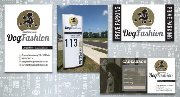 Dog-Fashion-logo-huisstijl-visitekaartje-zuil-raambelettering-cadeaubon-parkeerborden-branding-identiteit-grafisch-ontwerp-reclame-uiting-portfolio-Bladel