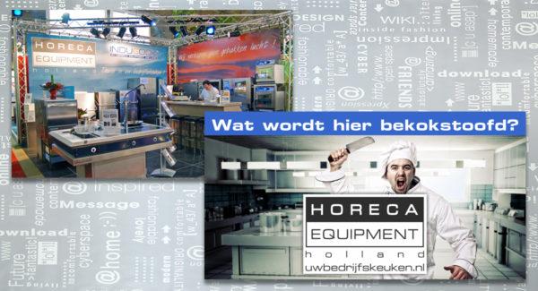 Horeca Equipment Holland, beurswand, bouwzeil, spanzeil, banner, brochure, logo, huisstijl, identiteit, branding, ontwerp, reclame-uiting, portfolio, Bladel