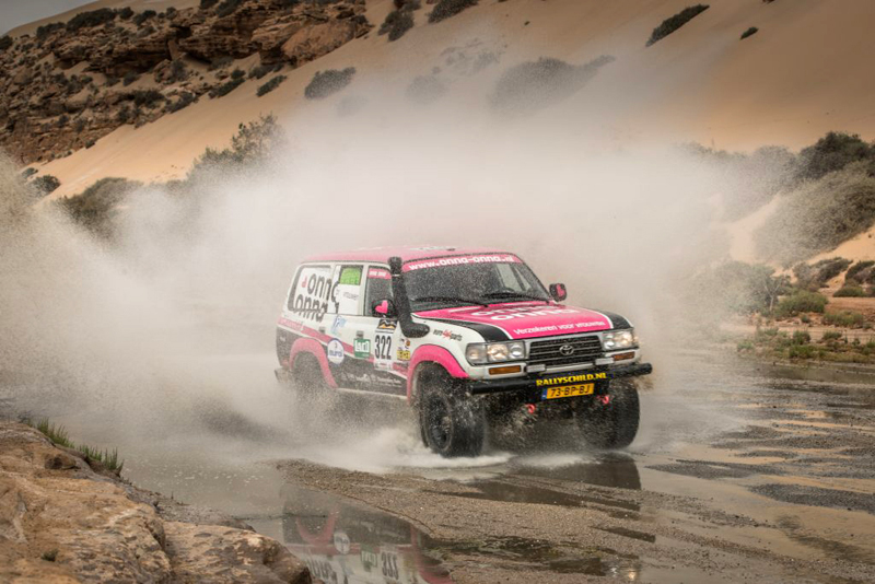 Les Gazelles, Tuareg Rally, Ladies Societeit de Kempen, partner, Autoschade Theo Lauwers