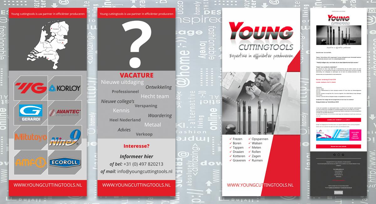 Young Cuttingtools Eersel, identiteit, branding, logo, huisstijl, ontwerp, banner, brochure, powerpointpresentatie, nieuwsbrief, bedrijfsfotografie, promotiefotografie, reclame, portfolio, Bladel