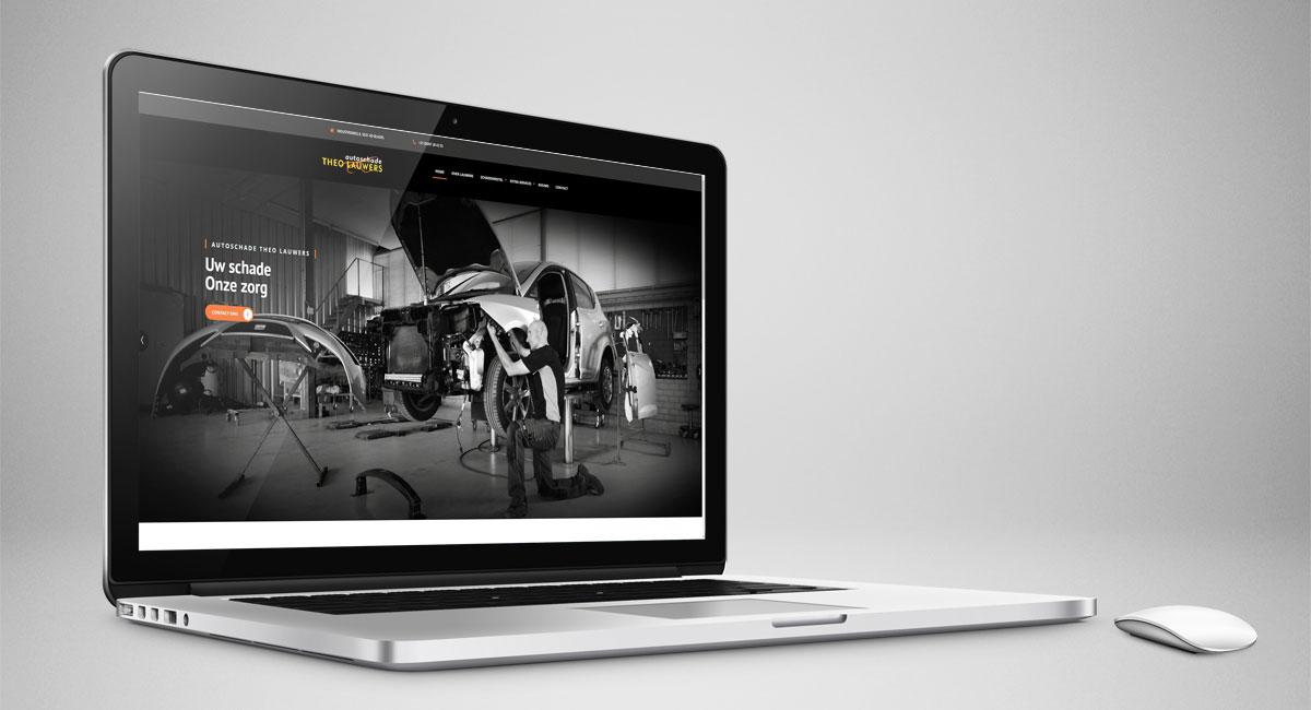 Autoschade Theo Lauwers, website, webdesign, logo, huisstijl, identiteit, fotografie, beeldbewerking, realisatie, reclame, reclame-uiting, portfolio, Bladel