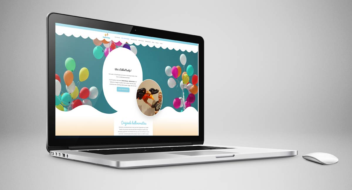 BallonMaatje, website, webdesign, identiteit, realisatie, reclame, portfolio