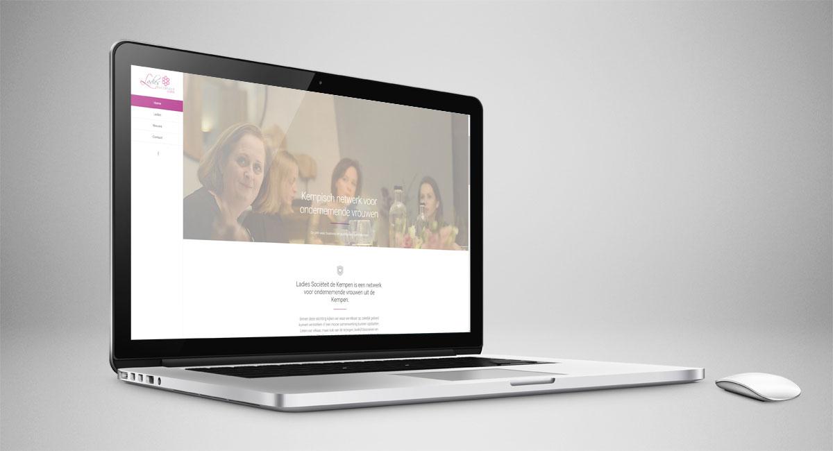 Ladies Sociëteit de Kempen, website, webdesign, logo, identiteit, tekst, fotografie, beeldbewerking, realisatie, ontwerp, webtekst, reclame, reclame-uiting, Portfolio