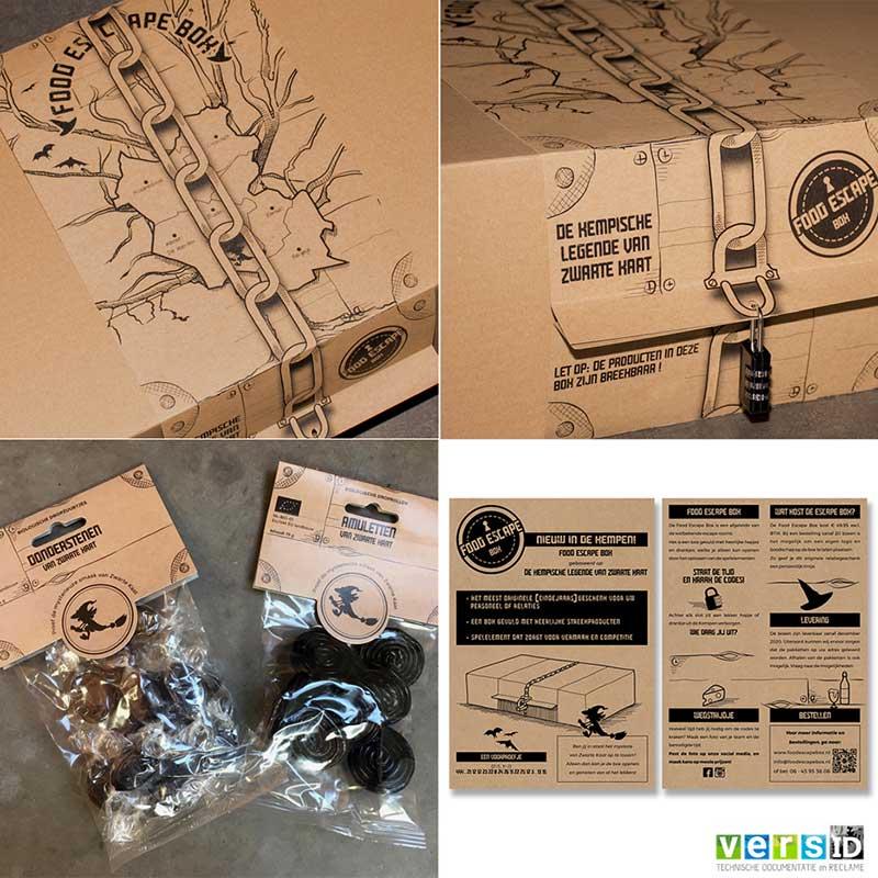 Food Escape Box, Ontwerp, Illustraties, Design, Nieuws, Bladel
