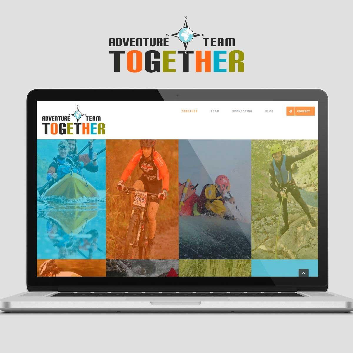 Website en logo-ontwerp voor Adventure Team Together.