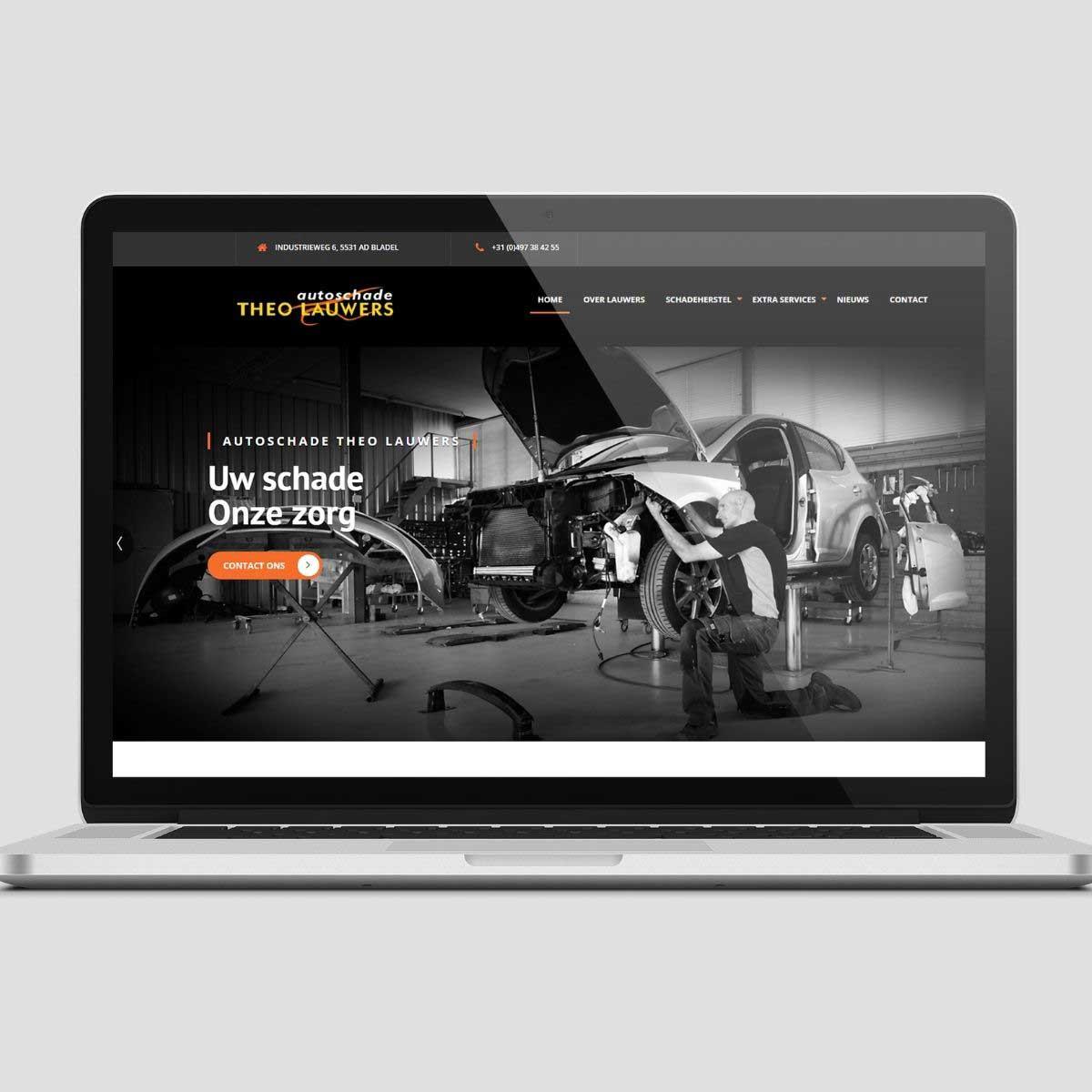 Website ontwerp en realisatie voor Autoschade Theo Lauwers.