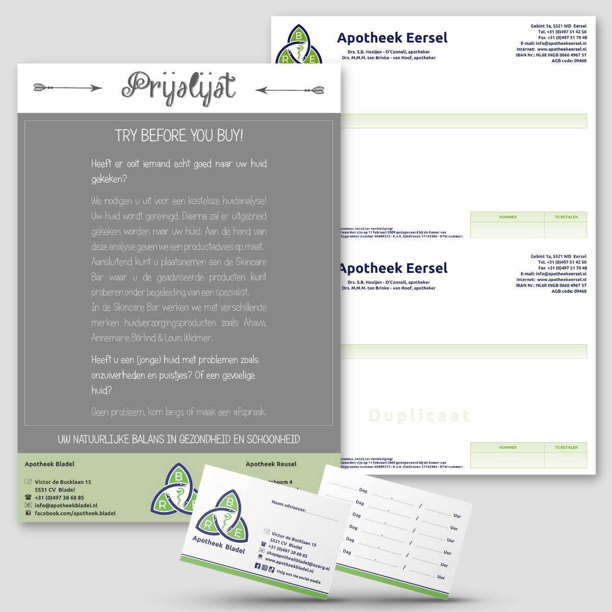 Grafisch ontwerp, DTP en drukwerk voor BRE apotheek.