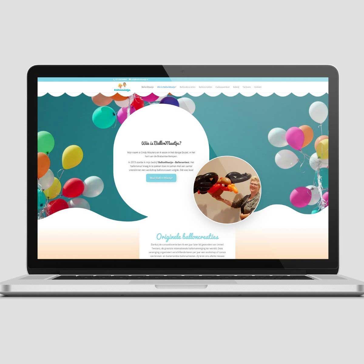 Website ontwerp en realisatie voor Ballonmaatje.