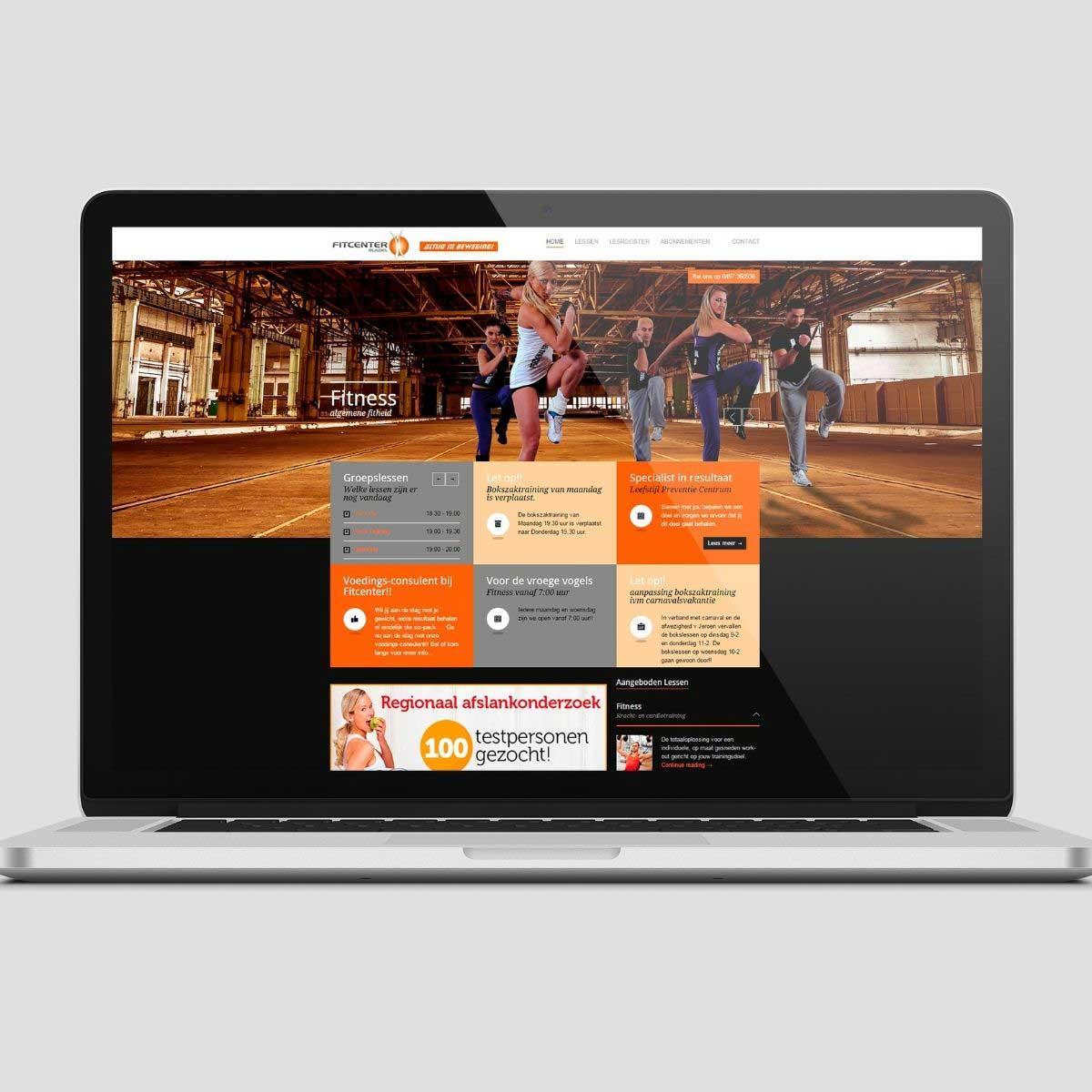 Website ontwerp Fitcenter Bladel.