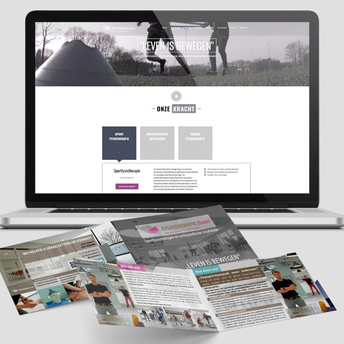 Website en brochure ontwerp Fysiotherapie Bladel.